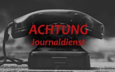 Achtung Journaldienst